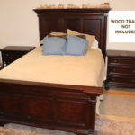 Queen Bed By Stanley Furniture Mahogany Finish Includes Mattress, Bedding & Nightstands