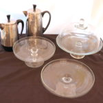 Farberware Electric Kettles (One Is Missing Cord) With Cake Stands