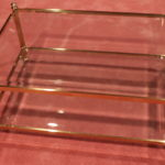 La Barge Brass And Glass Cocktail Table With Beveled Glass