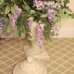 Large Decorative Faux Plant Centerpiece In Heavy Ceramic Urn
