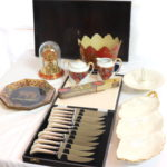 Assorted Lot Includes 12 Piece Sheffield England Steak Knife Set And More