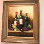 Floss Signed Still Life With Wines And Grapes