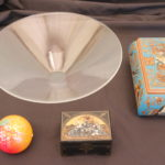 """Hand Painted """" Colors Of Jerusalem """" Wood Box, Russian Lacquered Box, Orient & Flume Glass Peach"""