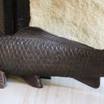 "L.M Morise Signed Carp Fish Bronze 18"" Long"