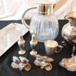 Large Lot Includes Summit Stainless Serving Tray, Wedgewood Pewter Salt & Pepper Shakers