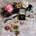 Mixed Women's Fashion Jewelry Lot Includes Brooches & Charm Necklace With Matching Earrings