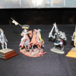 Highly Detailed Hand Painted Heraldic Miniatures Metal Knights